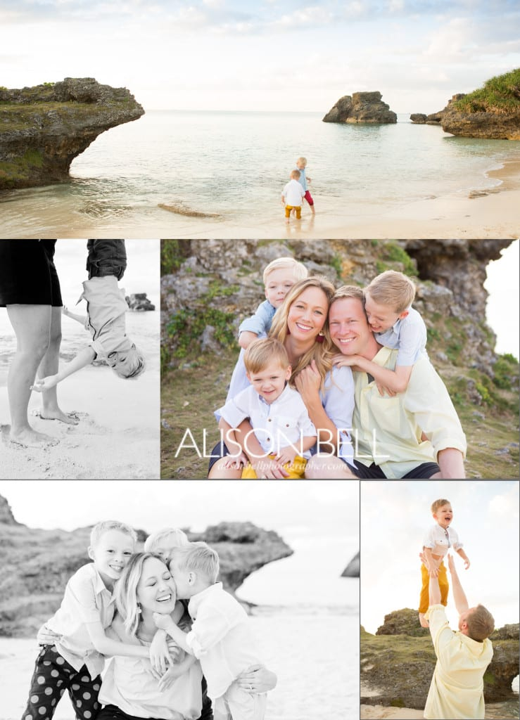 Yomitan, beach, rocks, family, child, couple photos