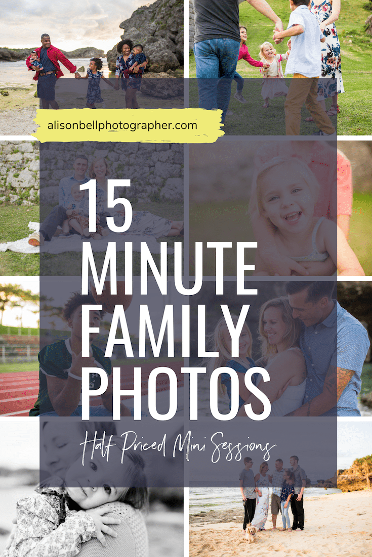 Half Priced Mini sessions - family photos in 15 minutes