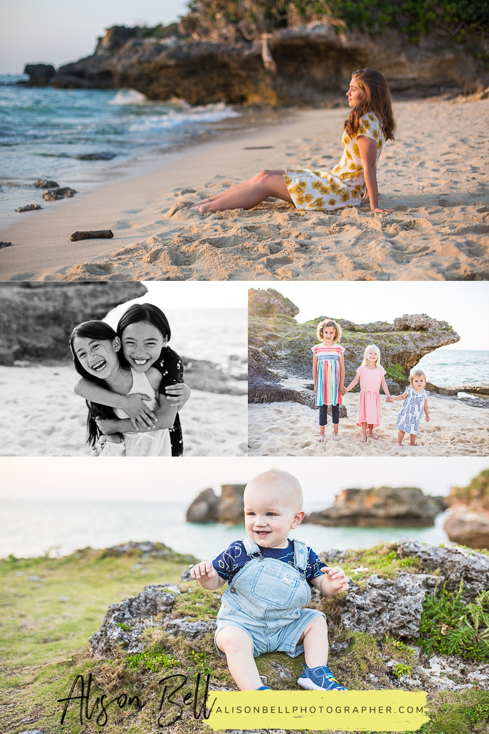 Half Priced Beach Mini sessions by Alison Bell, Photographer. Family, baby, toddler, kids and high school senior portraits.