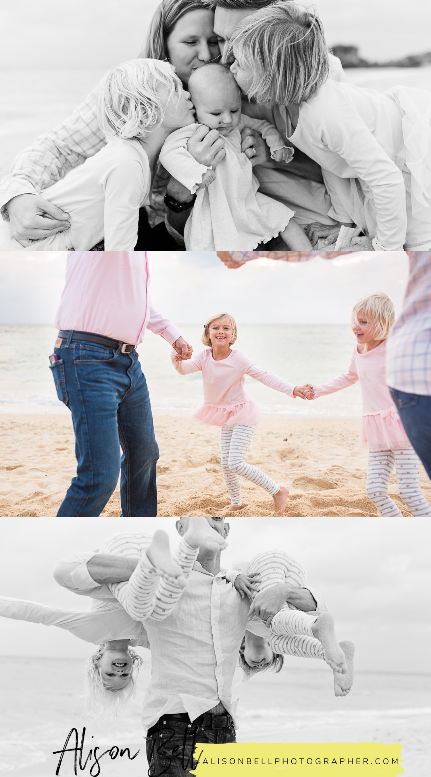 Baby and child family photography with the grandparents! On the beach in Okinawa, Japan by Alison Bell, Photographer.