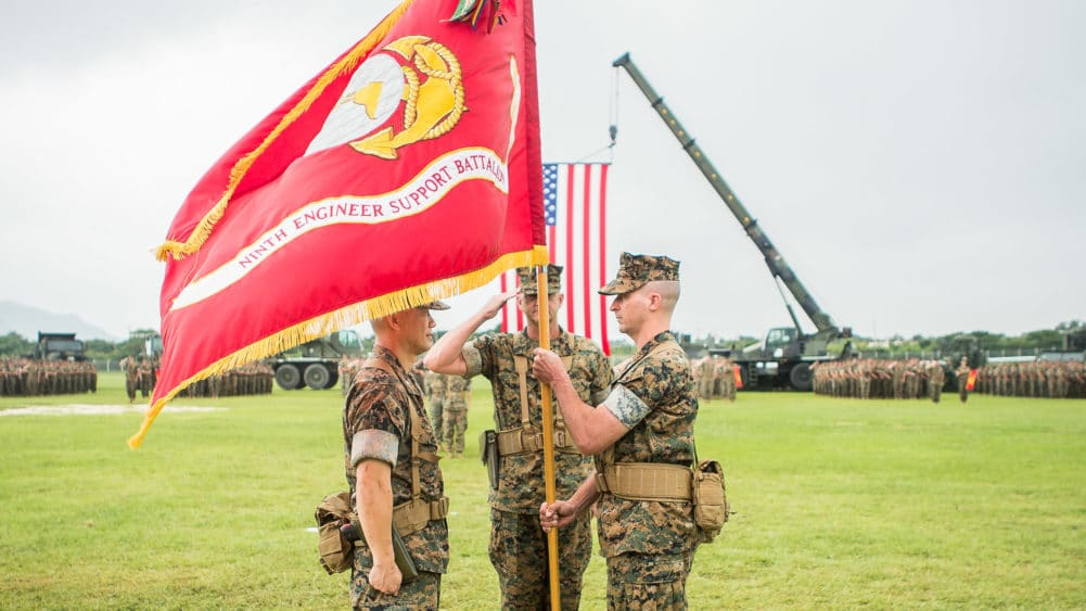 United States Marine Corps Change of Command Ceremony, 9th Engineer Support Battalion Camp Hansen, Okinawa Japan by Alison Bell, Photographer. #alisonbellphotog alisonbellphotographer.com