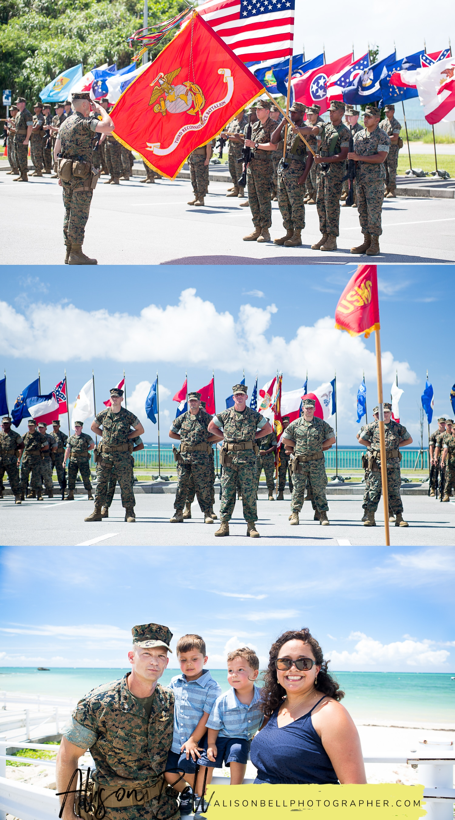 United States Marine Corps Change of Command Ceremony, 3rd Recond Battalion, Camp Schwab, Okinawa Japan by Alison Bell, Photographer. #alisonbellphotog alisonbellphotographer.com