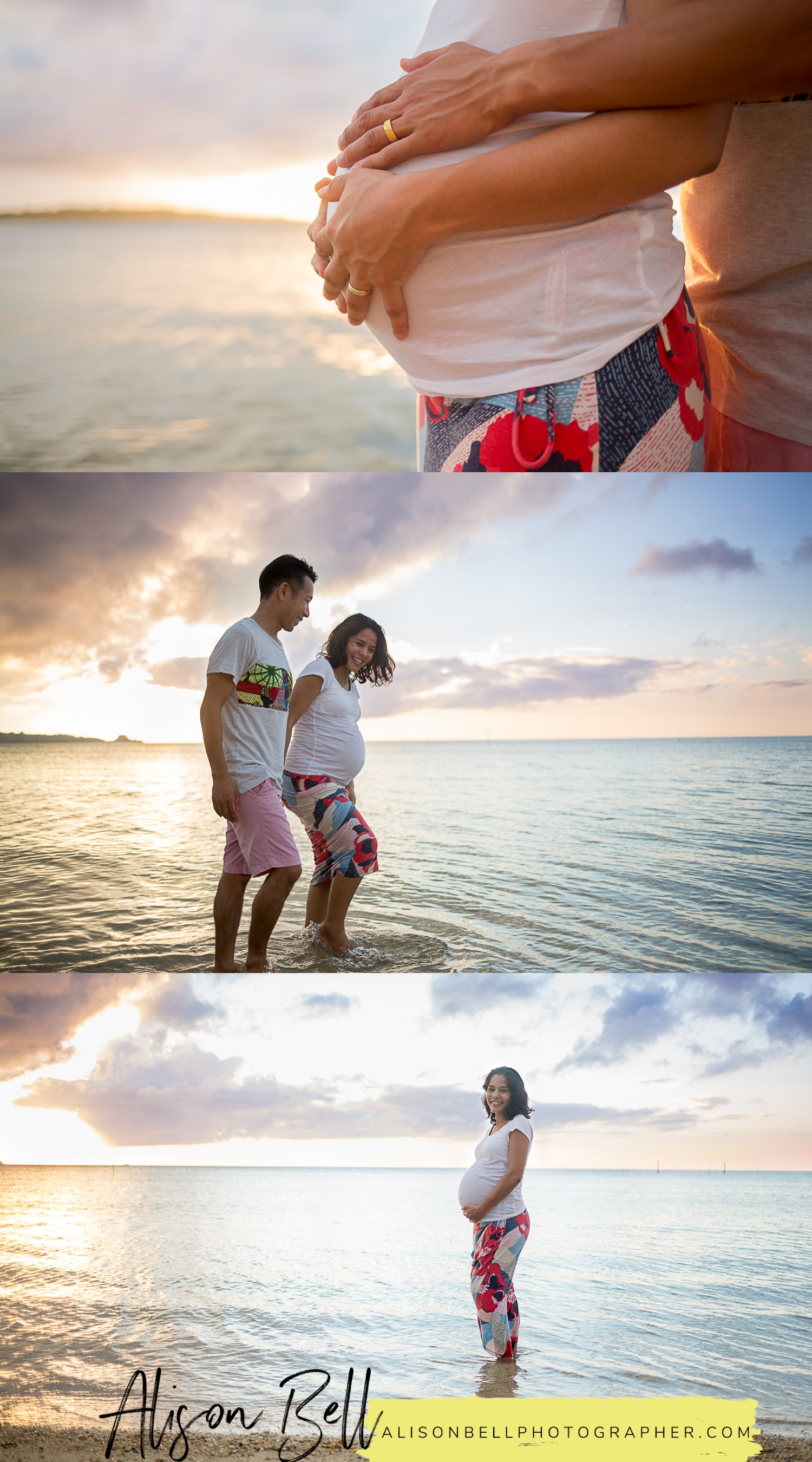 Maternity pregnancy photos on the beach in Okinawa Japan. Nakadomari Beach #alisonbellphotog alisonbellphotographer.com