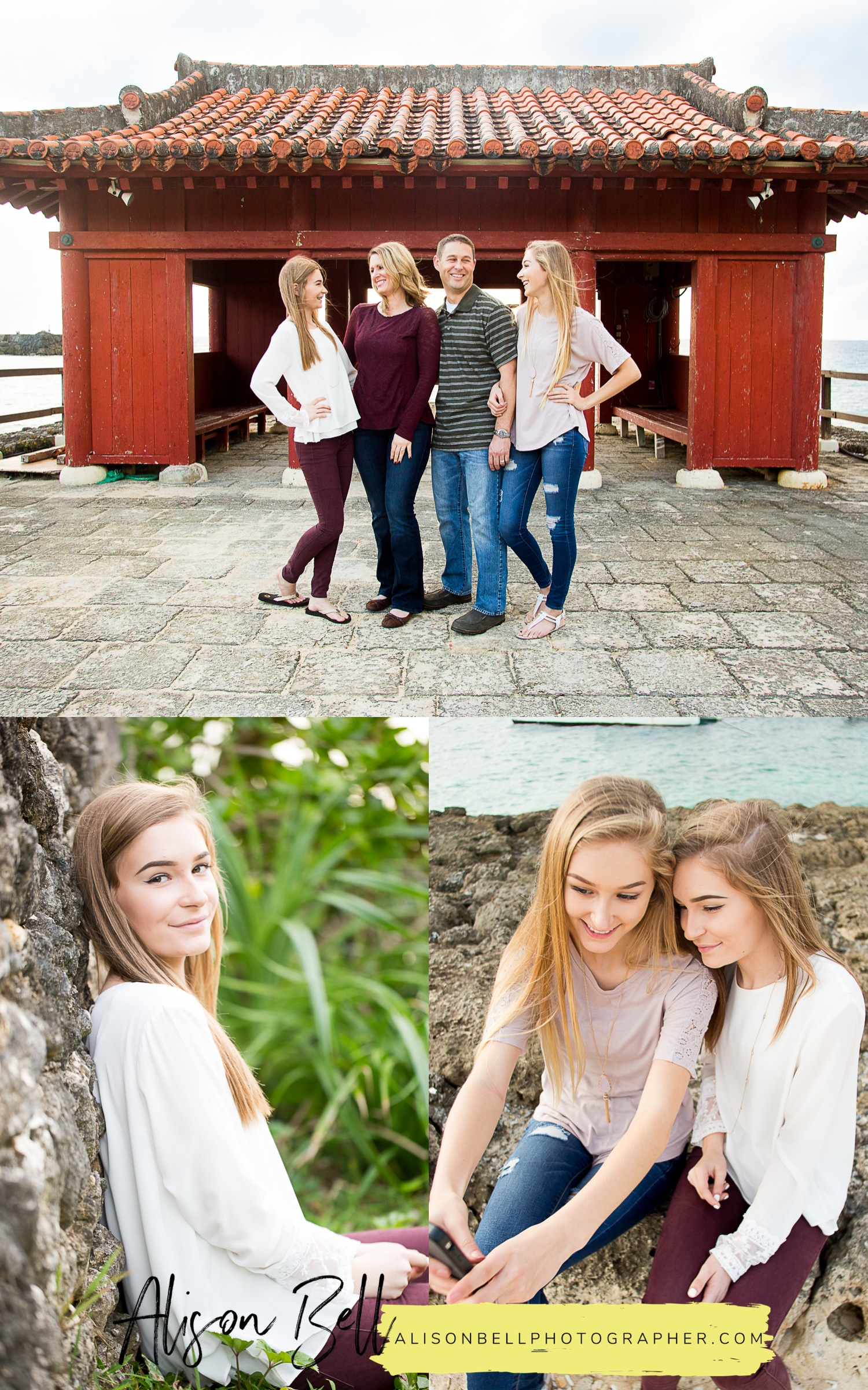 Senior portraits and family session in one. #simplesenior in Okinawa Japan by Alison Bell, Photographer #alisonbellphotog www.alisonbellphotographer.com