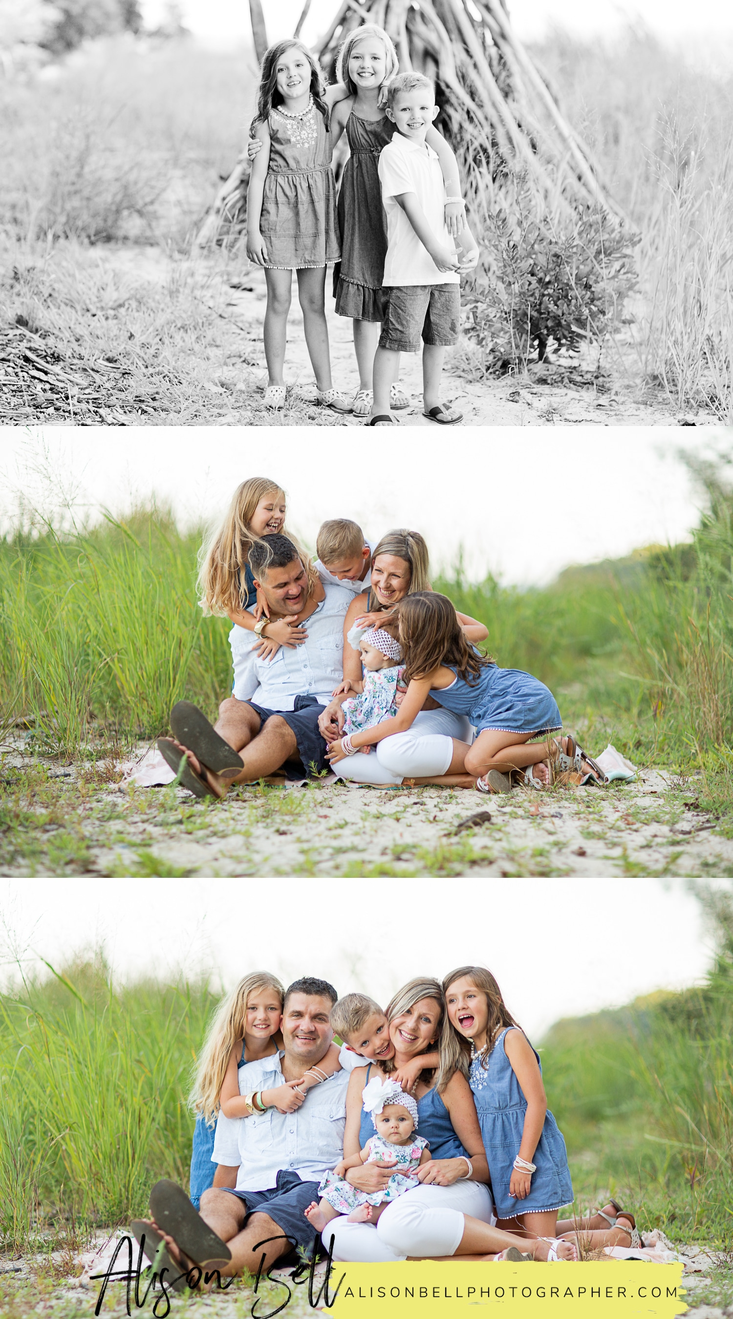 Family photo session at Widewater State Park in Northern Virginia by Alison Bell, Photographer
