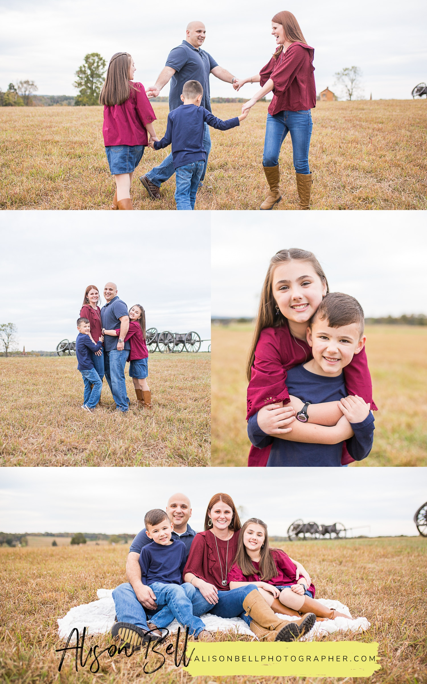 Northern virginia family photos in Manassas, VA at Manassas National Battlefield by Alison Bell, Photographer based in Quantico