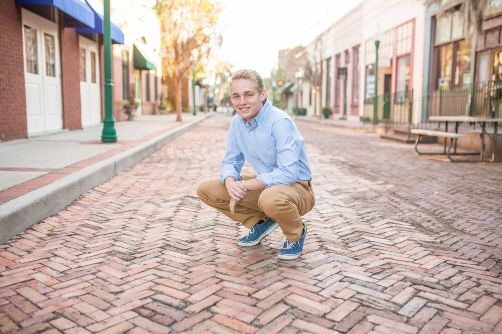 Senior boy and family portrait session in one. Downtown Summerville, SC and Azalea Park by Alison bell, Photographer