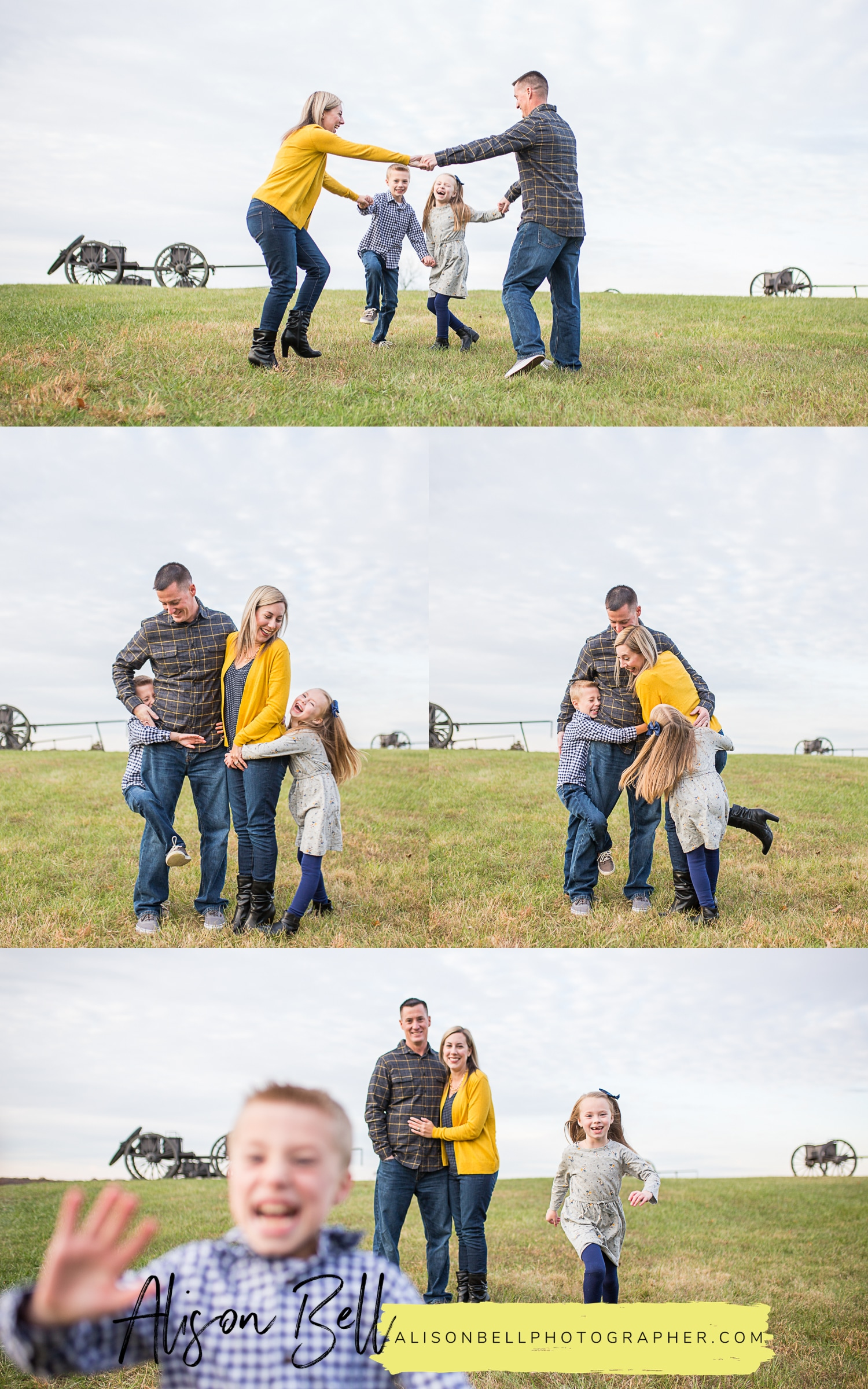 Manassas Civil War Battlefield in Northern Virginia. Family photo session by Alison Bell, Photographer of Quantico VA.
