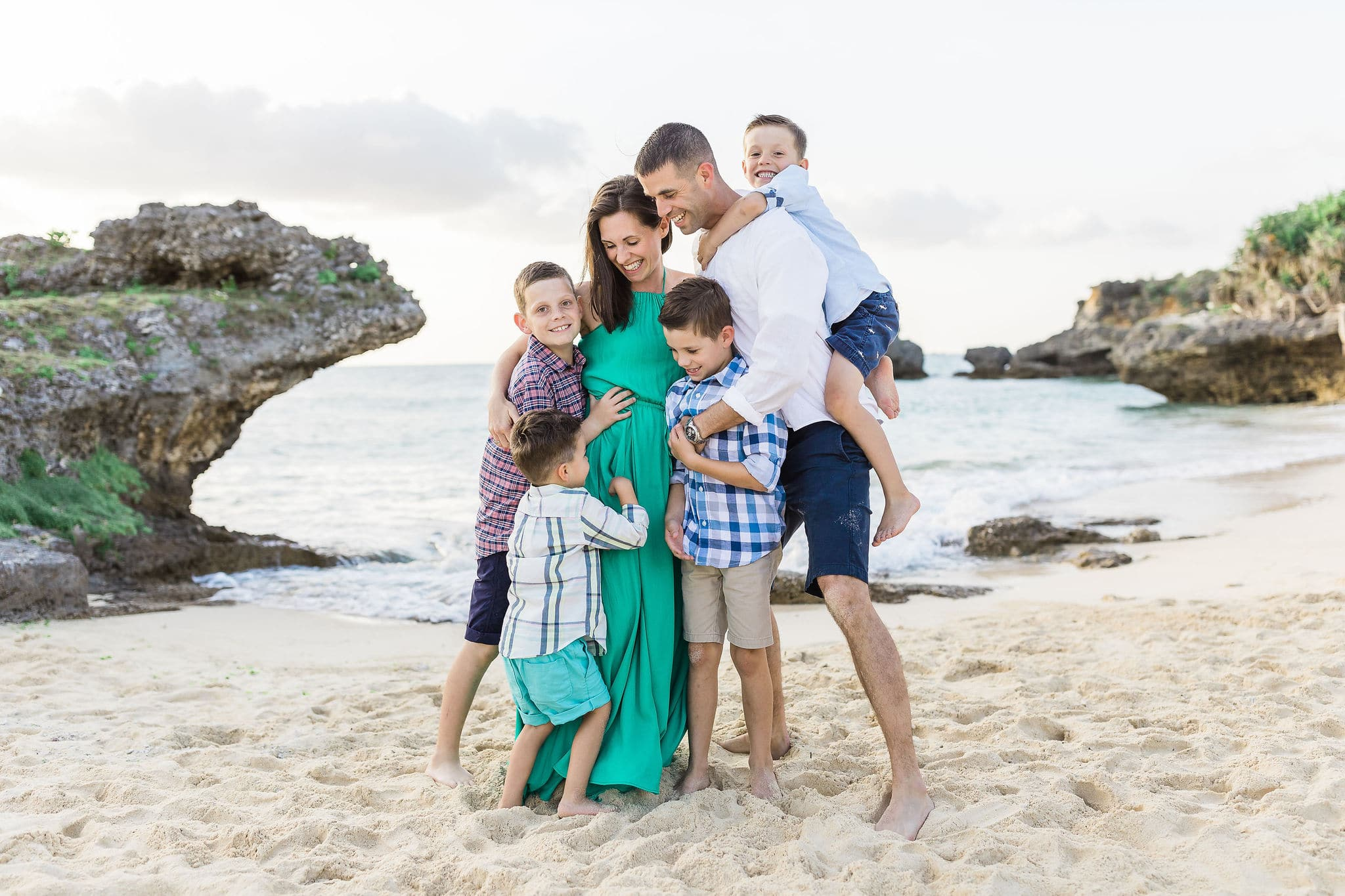 Family photo session on the beach by Heather Johnson Photography