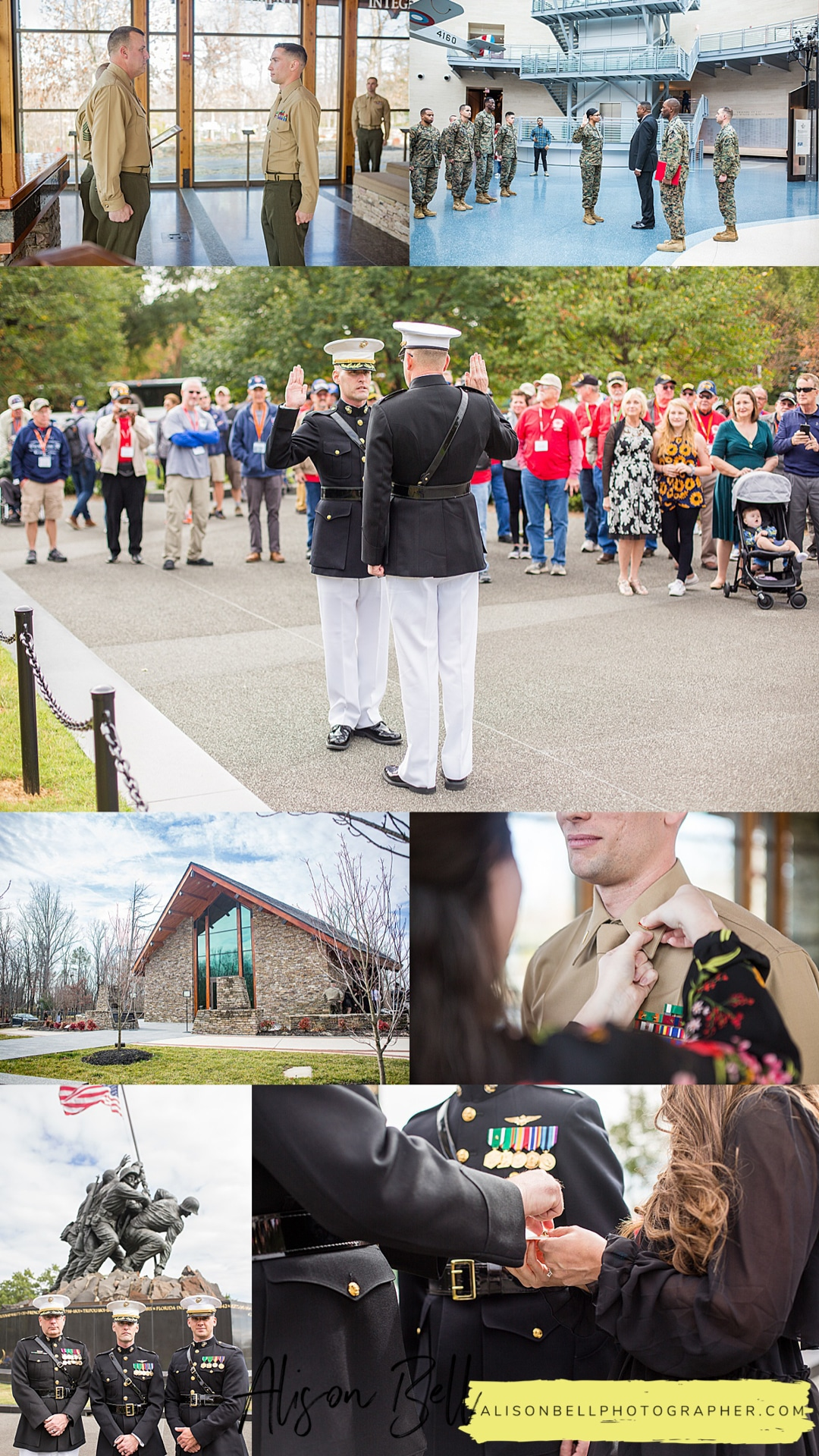 Top 3 locations in Northern Virginia and Quantico for Marine Corps promotion, re-enlistment and retirement ceremonies. alisonbellphotographer.com