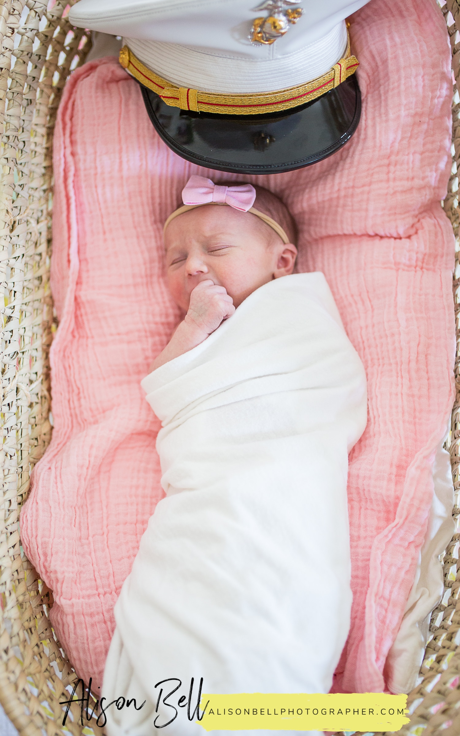 In home lifestyle newborn baby photo session by alison Bell, Photographer. Alisonbellphotographer.com USMC cover
