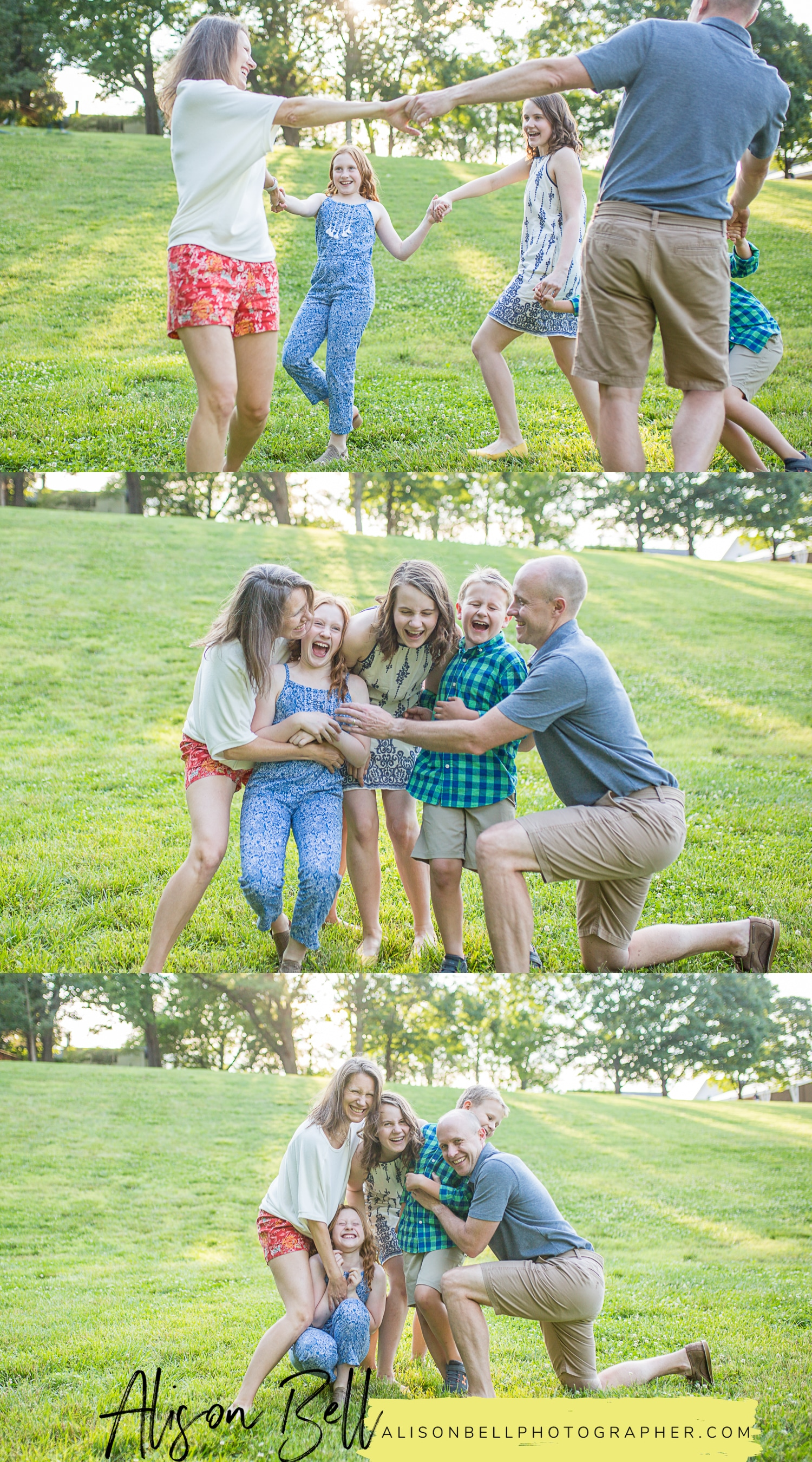 Family of 5 with older kids photo session at Wolf Trap National Park for the Performing Arts in Vienna, Virginia by Alison Bell Photographer, alisonbellphotographer.com