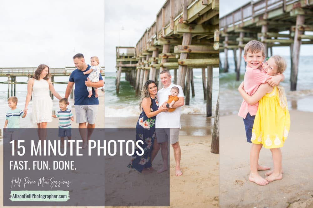 Sandbridge beach family mini photo session in Virginia Beach by Alison bell photographer