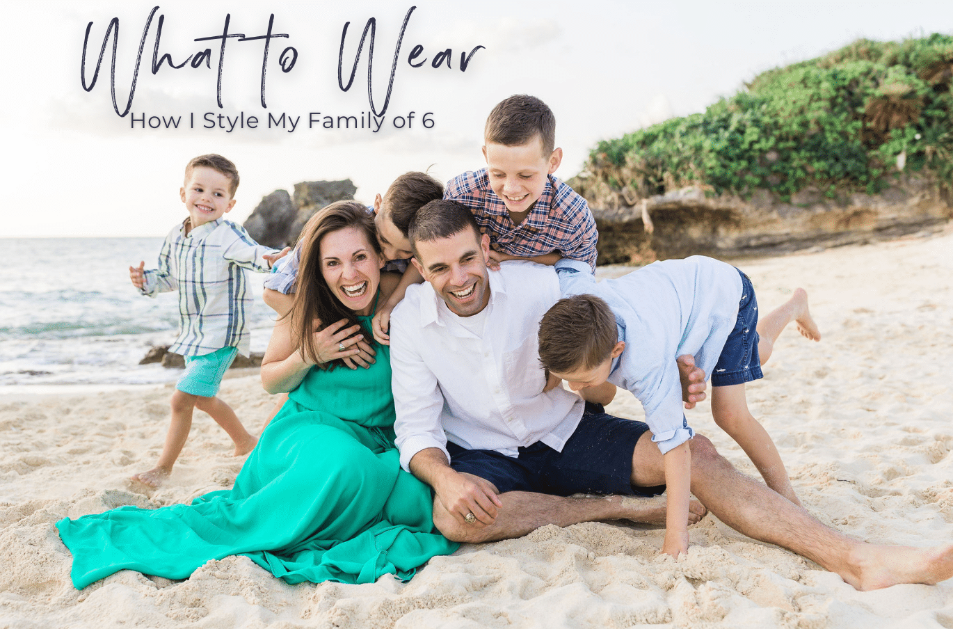 What to wear for family photos, family of six, by alison bell photographer