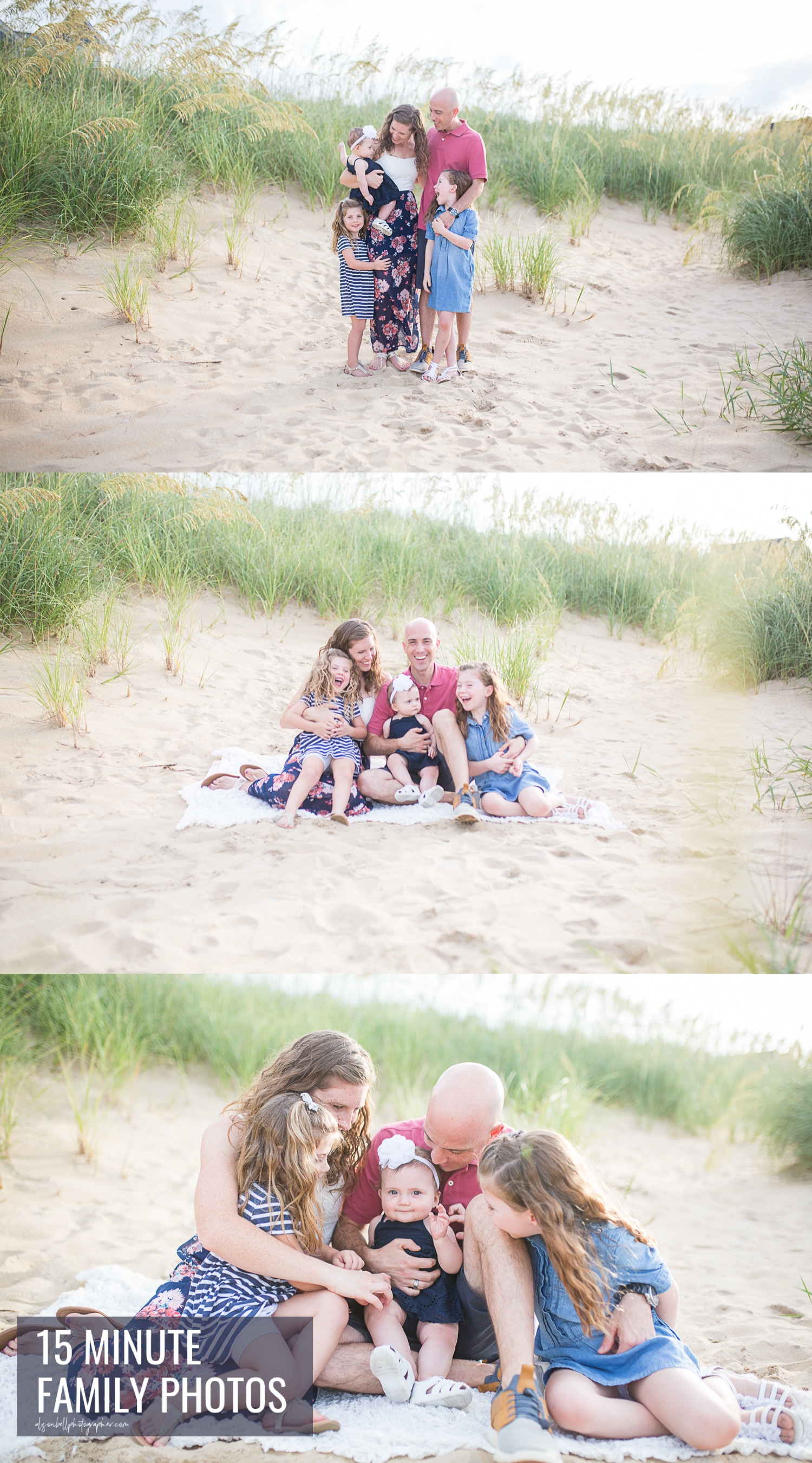 15 minute family mini photo session at East Beach, Norfolk by Alison Bell Photographer
