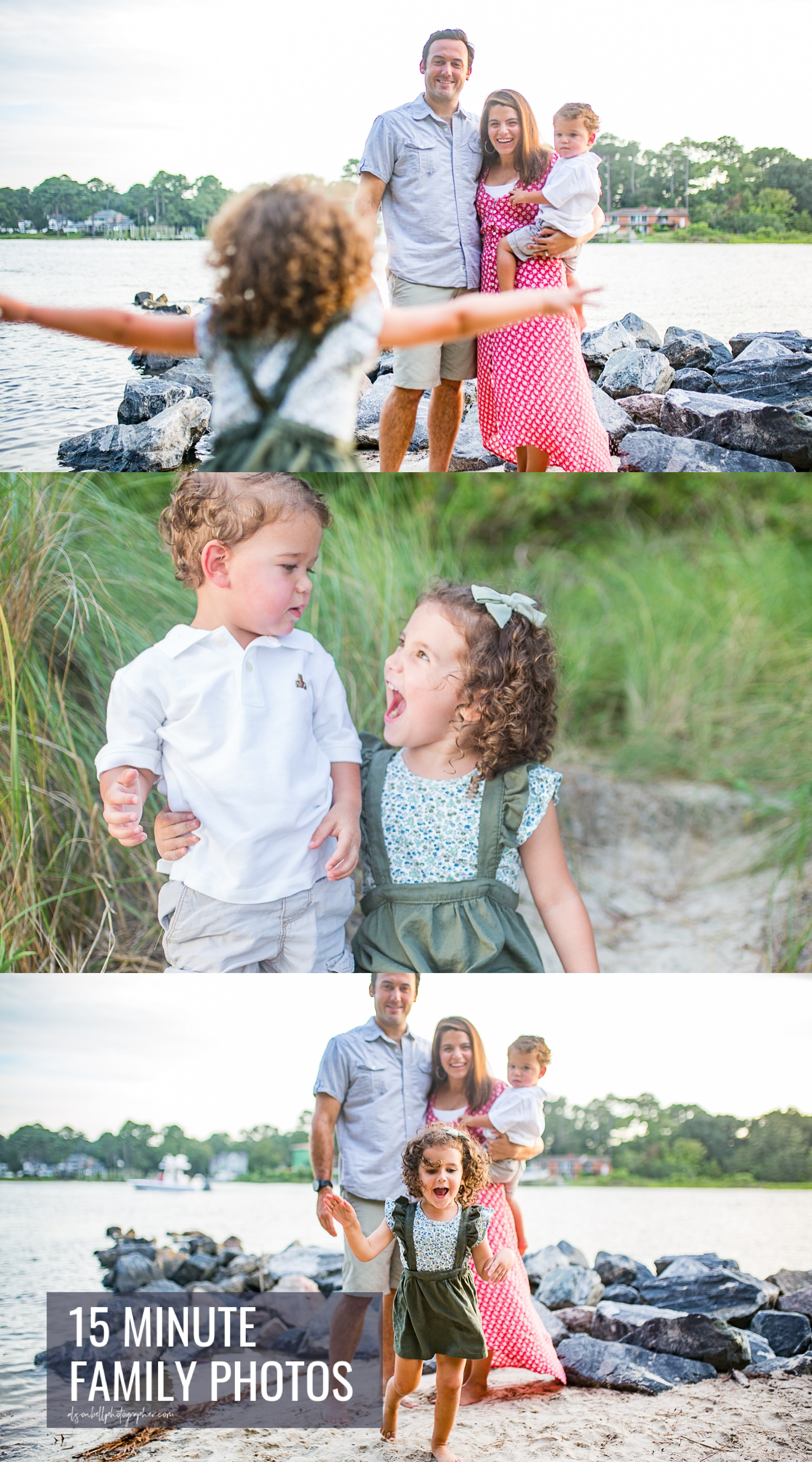 Family mini sessions at first landing state park The Narrows by Alison bell, Photographer alisonbellphotographer.com
