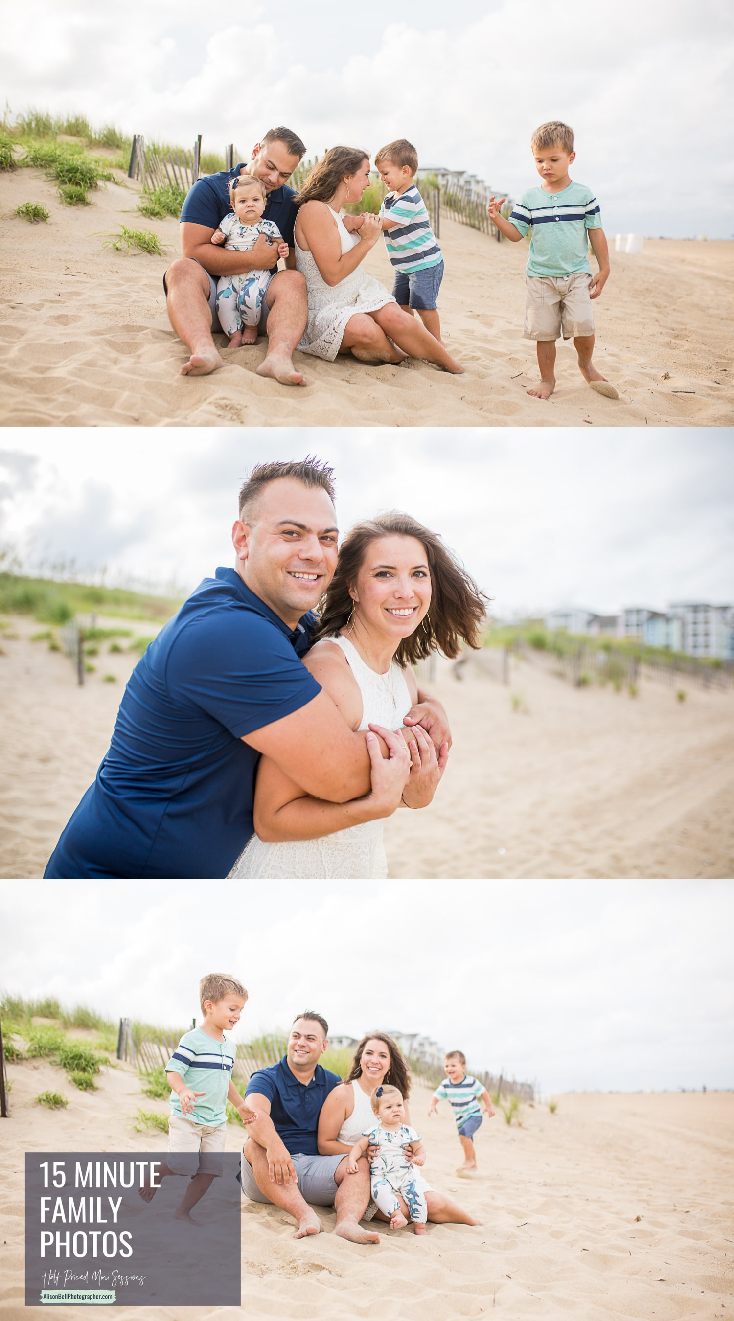 Sandbridge beach family photo mini session by alison bell photographer in Virginia Beach