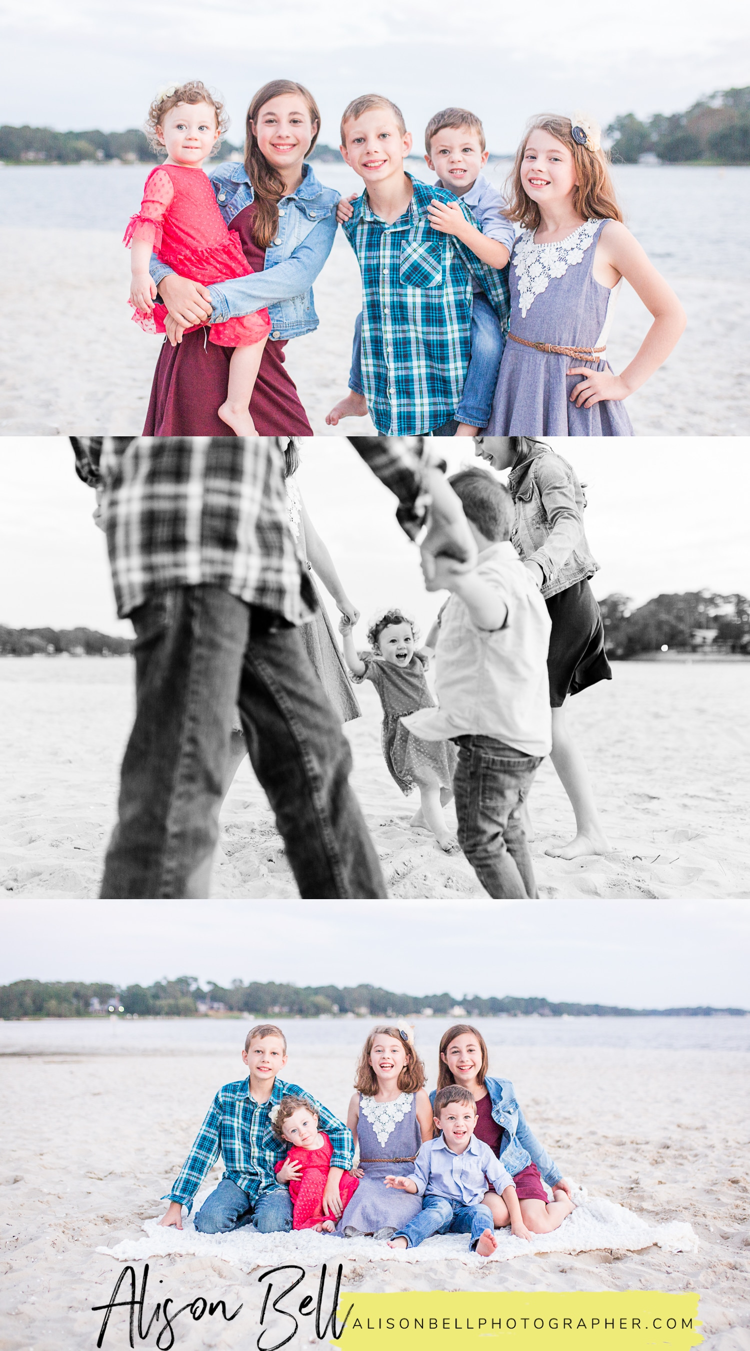 the-narrows-family-photos in Virginia Beach by Alison Bell, Photographer