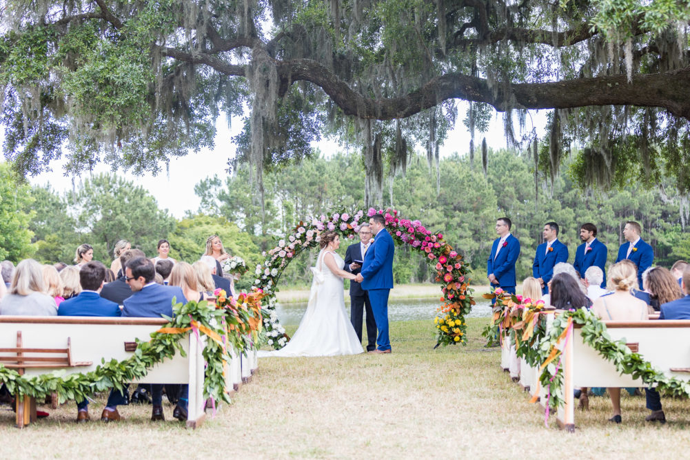Outdoor lowcountry wedding at Wingate Place on Johns Island in Chlareston SC