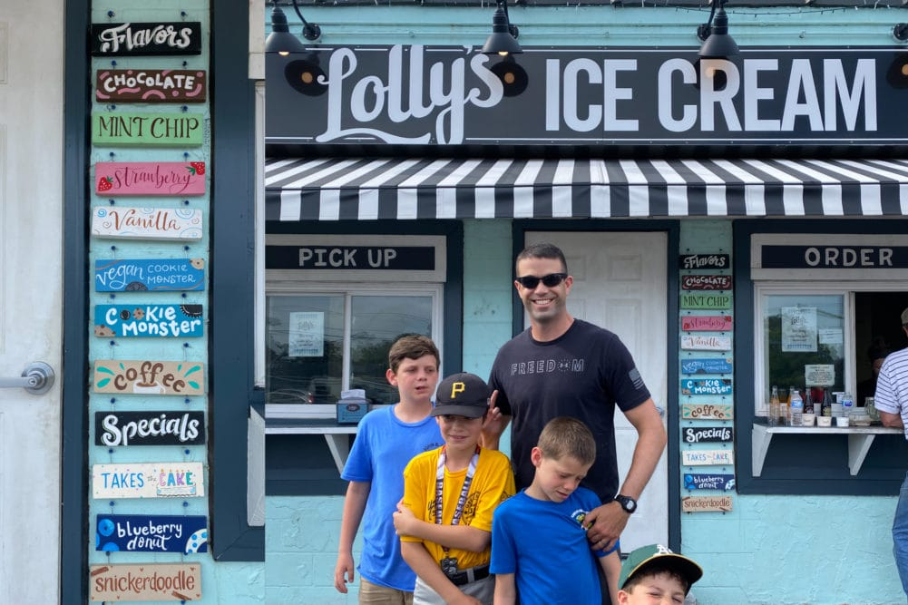 lolly's creamery in the VIBE district of virginia beach