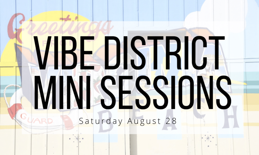 Vibe district mini photo sessions in virginia beach august 28
