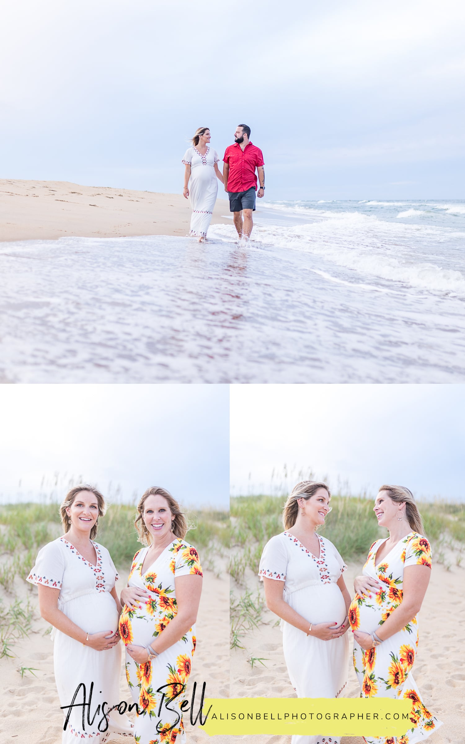 North End virginia beach family maternity photos with alison bell, photographer